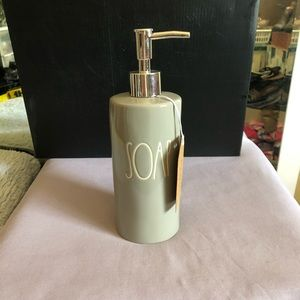 Rae Dunn Soap dispenser grey